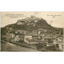 carte postale ancienne 15 SAINT-FLOUR. La Ville et Faubourg. Vallée du Lander