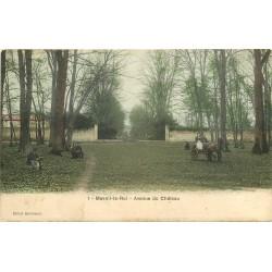 78 MESNIL-LE-ROI. Attelage Avenue du Château