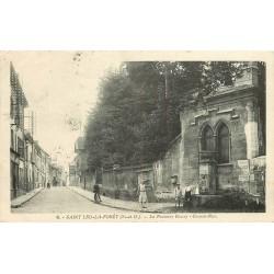 2 x Cpa 95 SAINT-LEU-LA-FORET TAVERNY. Fontaine Boissy sur Grande Rue