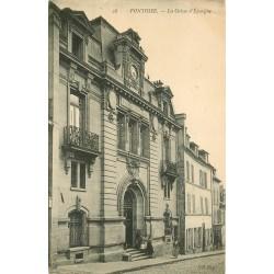 2 x Cpa 95 PONTOISE. Caisse d'Epargne et Quai du Pothuis 1919
