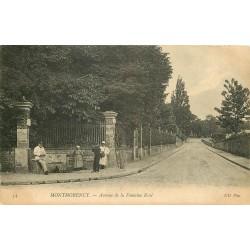 2 x Cpa 95 MONTMORENCY. Avenue Fontaine Renée 1910 et Justice de Paix