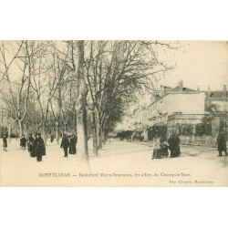 26 MONTELIMAR. Allées du Champ-de-Mars et Boulevard Marre-Desmarais 1916