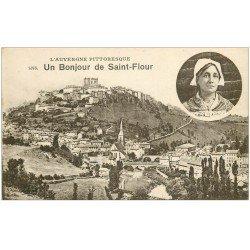 carte postale ancienne 15 SAINT-FLOUR. Un Bonjour
