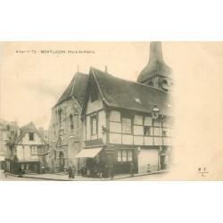 2 x Cpa 03 MONTLUCON. Place Saint-Pierre 1903 et Eglise Saint-Paul