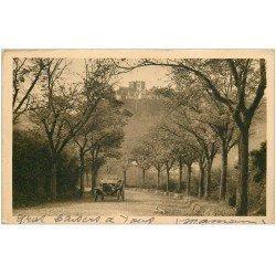 carte postale ancienne 15 SAINT-FLOUR. Voiture Tacot Route de Massiac à Saint-Four 1938