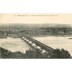49 SAUMUR. Pont du Chemin de Fer sur la Loire 1932