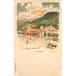 2 x Cpa 63 LA BOURBOULE. Thermes et Villa vers 1900