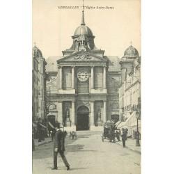 2 x Cpa 78 VERSAILLES. Eglise Notre-Dame et Square Hoche 1908