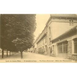 2 x Cpa 78 SAINT-GERMAIN-EN-LAYE. Pavillon d'Internat Allée des Marronniers et l'Ascenseur 1910