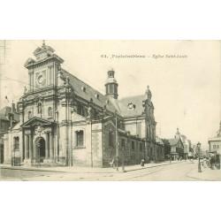 77 FONTAINEBLEAU. Eglise Saint-Louis 1915 tampon militaire