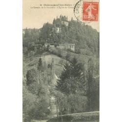 63 CHATEAUNEUF-LES-BAINS. Eglise et Chemin de la Passerelle 1916