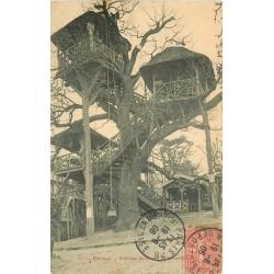 92 LE PLESSIS ROBINSON. Restaurant dans les arbres avec poulies 1906