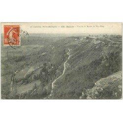 carte postale ancienne 15 SALERS. Route du Puy-Mary 1913