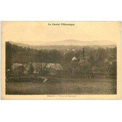carte postale ancienne 15 SAUVAT. Village de Lavergne 1936
