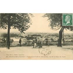 16 ANGOULEME. Faubourg et Port de l'Houmeau vus de la Place du Palet 1923