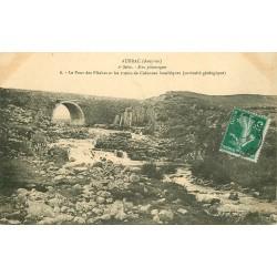 12 AUBRAC. Pont des Plèches et troncs de Colonnes basaltiques 1912