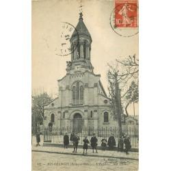 91 RIS-ORANGIS. L'Eglise 1913 animation