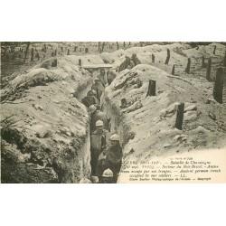 GUERRE 1914-18. 51 BOIS-BRICOT. Boyau occupé par nos Troupes