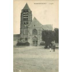 95 BESSANCOURT. L'Eglise et le Facteur de dos