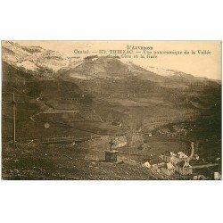 carte postale ancienne 15 THIEZAC. La Gare et Vallée de la Cère 1932