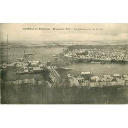 77 MONTEREAU. Inondation en 1910 vue de Surville