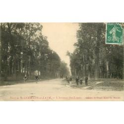 78 SAINT-GERMAIN-EN-LAYE. Avenue des Loges cyclistes et promeneurs 1908