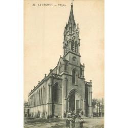 78 LE VESINET. L'Eglise belle animation vers 1919