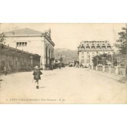 69 LYON Gare de Perrache et Hôtel Terminus 1918