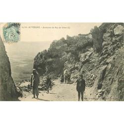 63 AUVERGNE. Randonneurs pour Ascension du Puy de Dôme 1906