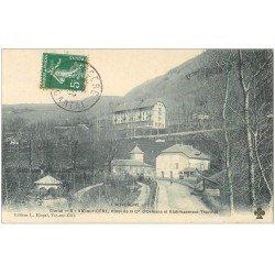 carte postale ancienne 15 VIC-SUR-CERE. Hôtel de la Compagnie d'Orléans 1909