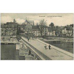 carte postale ancienne 02 SOISSONS. Pont de Saint-Waast