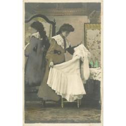"""Série de 5 Cpa sur une """" JEUNE FEMME """" par Ned vers 1900"""