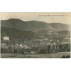 carte postale ancienne 15 VIC-SUR-CERE. Quartier de la Gare
