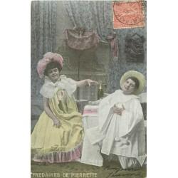 3 Cpa Fredaines de Pierrot et Pierrette 1905