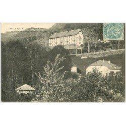 carte postale ancienne 15 VIC-SUR-CERE. Source et Grand Hôtel d'Orléans 1905