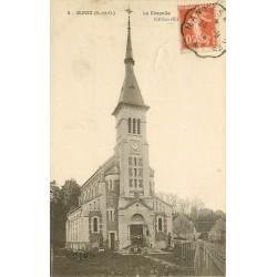 91 BURES. La Chapelle avec nombreux enfants 1919