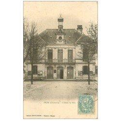 carte postale ancienne 16 AIGRE. Hôtel de Ville. Carte Pionnière 1903