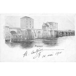 78 POISSY. Le Pont avec son ancien Moulin 1901