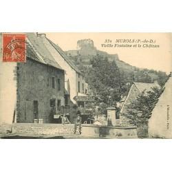 63 MUROLS. Vieille Fontaine et Château Hôtel 1907