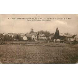 63 SAINT-GERVAIS-D'AUVERGNE. Le Quartier de la Fontaine de la Ville 1938