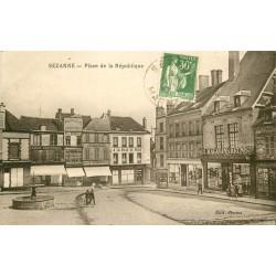 51 SEZANNE. Place de la République 1937 aux Magasins réunis