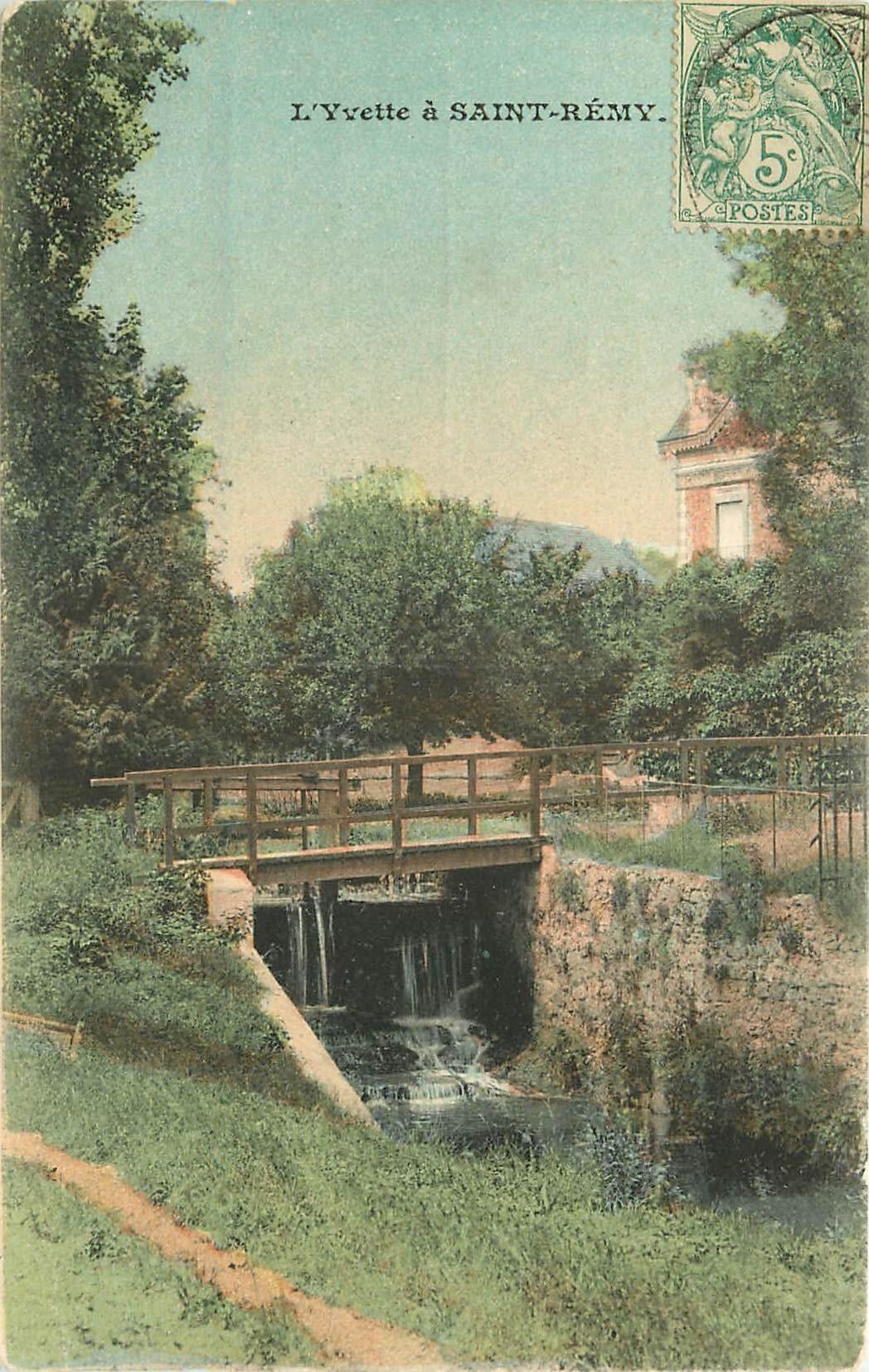 78 SAINT-REMY-LES-CHEVREUSE. L'Yvette sous le Pont de l'Etau vers 1906