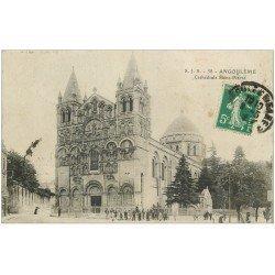 carte postale ancienne 16 ANGOULEME. Cathédrale Saint-Pierre 1916