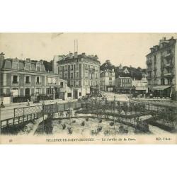94 VILLENEUVE-SAINT-GEORGES. Jardin de la Gare avec Modern Hôtel Restaurant