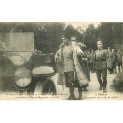08 MEZIERES. Le Kronprinz après la Revue au Square Bayard en Juin 1918