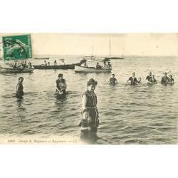 62 LE PORTEL. Baigneurs et Baigneuses 1918