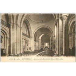 carte postale ancienne 16 ANGOULEME. Cathédrale Saint-Pierre intérieur