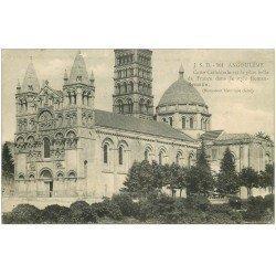carte postale ancienne 16 ANGOULEME. Cathédrale. tampon Militaire 1915