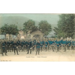54 LUNEVILLE. Armée Allemande Deutsche Armee 1905 cyclistes