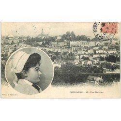 carte postale ancienne 16 ANGOULEME. Femme coiffe folklorique 1905